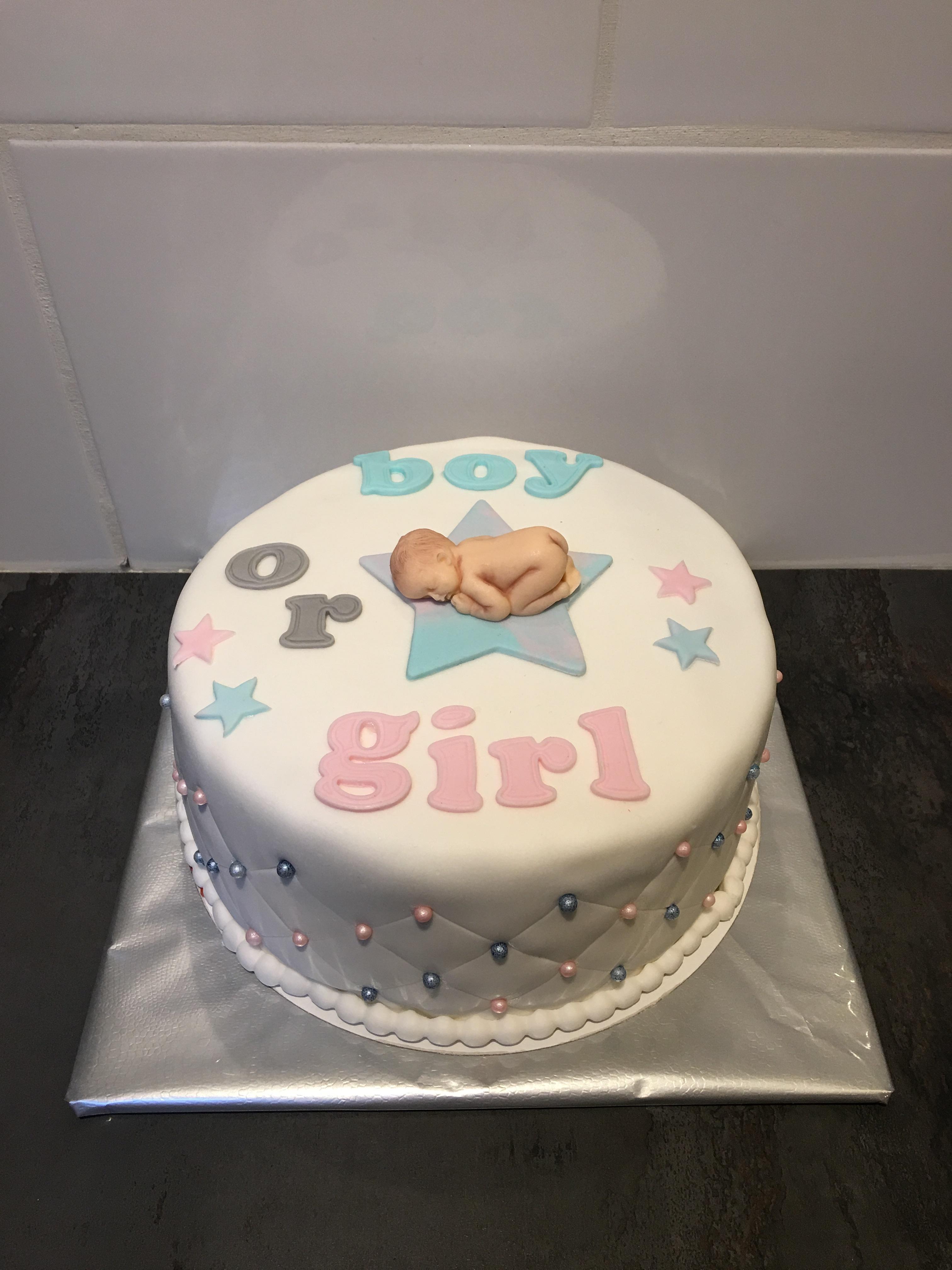 gender taart Gender reveal taart | de zoetige taart gender taart